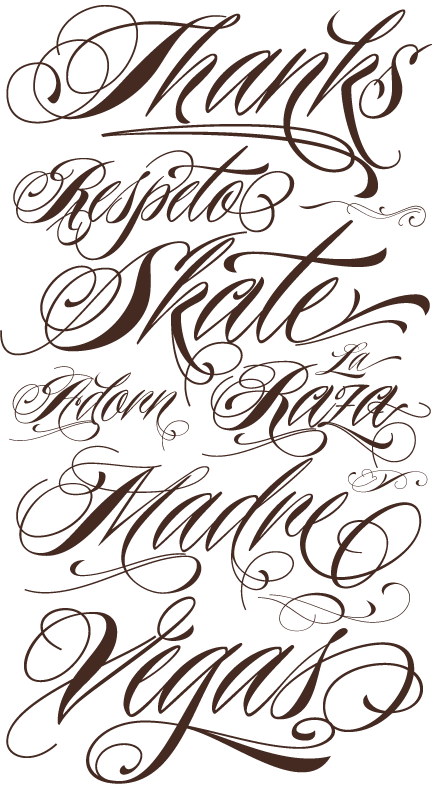 Fonts drawing chicano. Tattoo schriften vorlagen designs