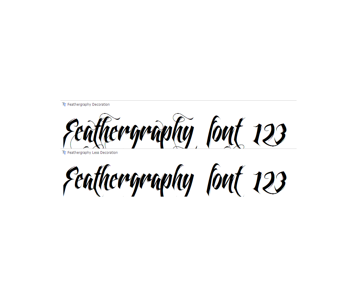 Calligraphy vector swash. Swashes font buy decorative