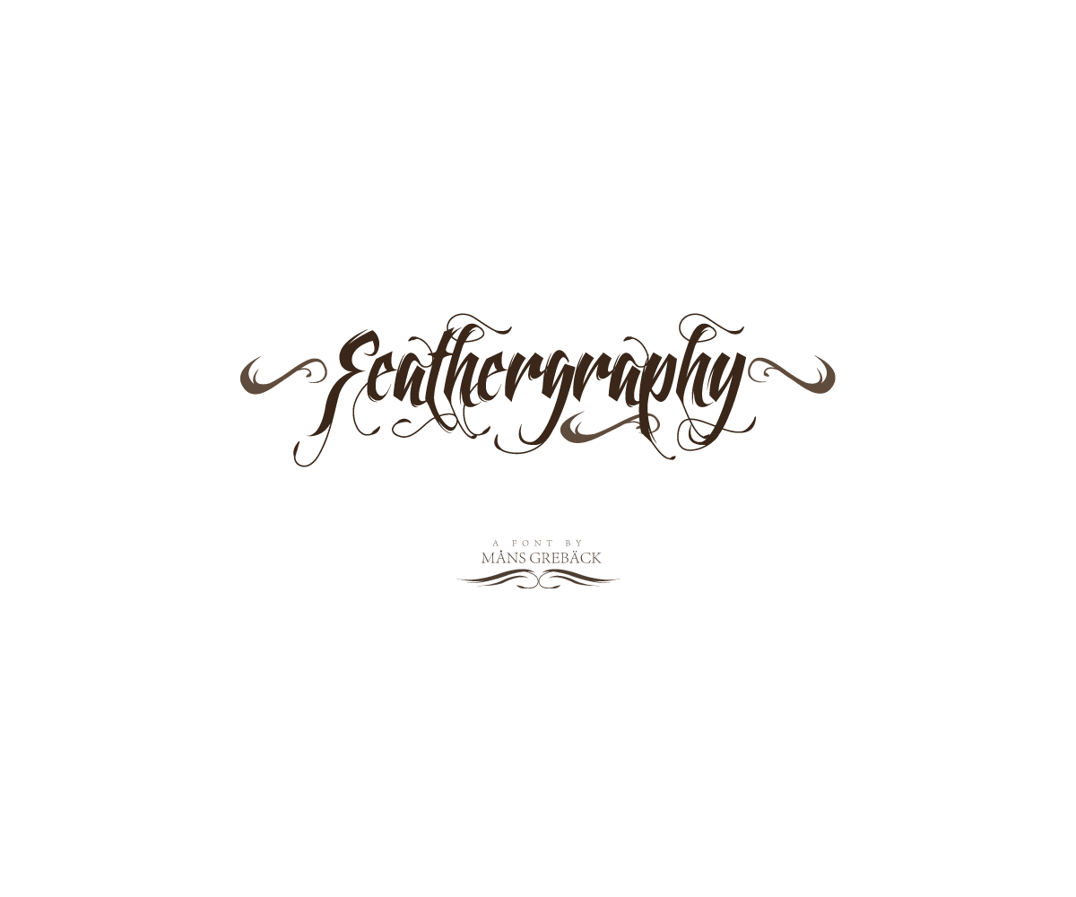 Swashes vector calligraphy. Font buy decorative tattoo
