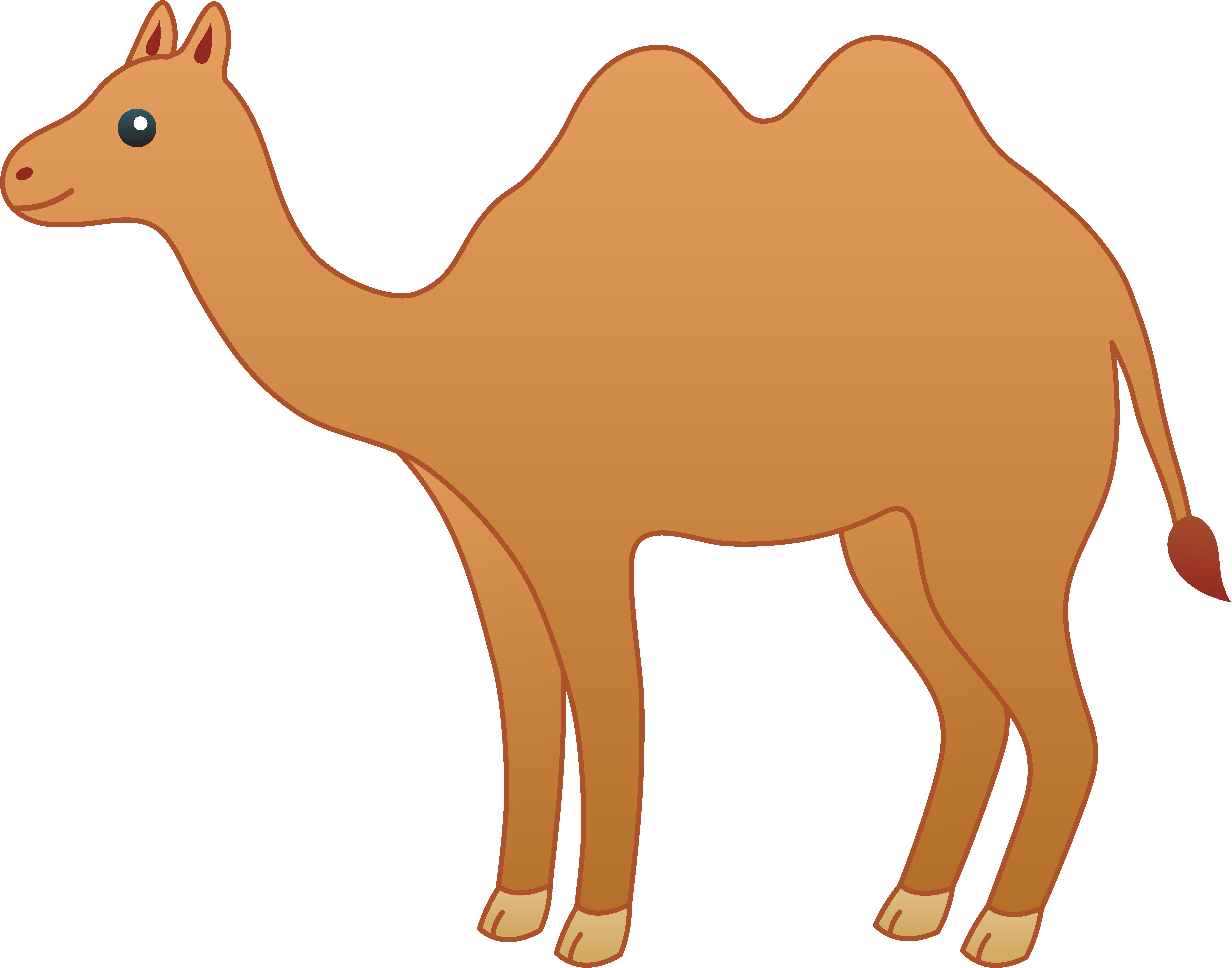 Camel clipart simple. Awesome design digital collection