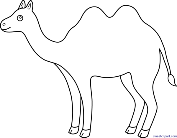 Camel clipart simple. Free sweet clip art