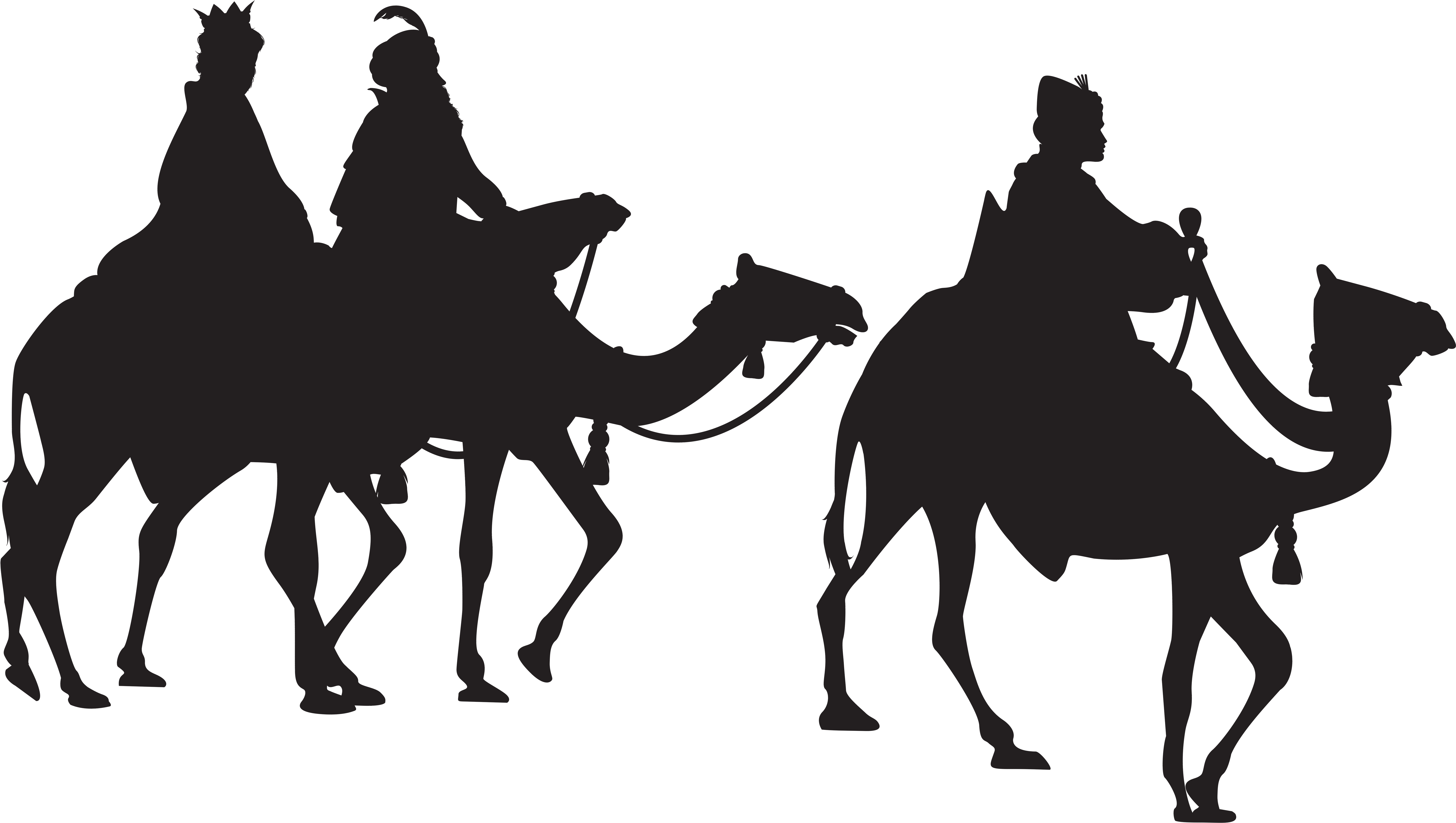Three silhouette png clip. 3 clipart kings jpg royalty free download