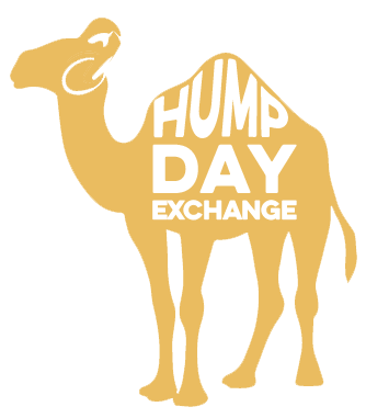 Camel transparent hump day. Graphic black and