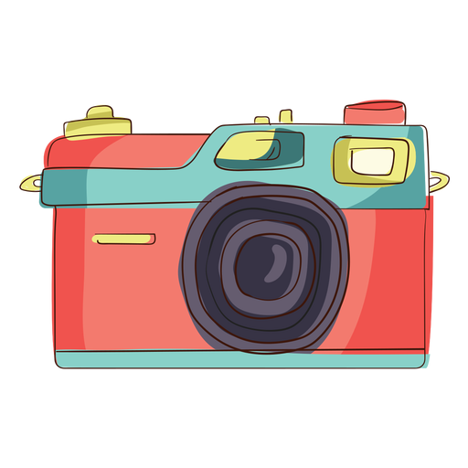 Camara vector digital camera. Rangefinder cartoon transparent png