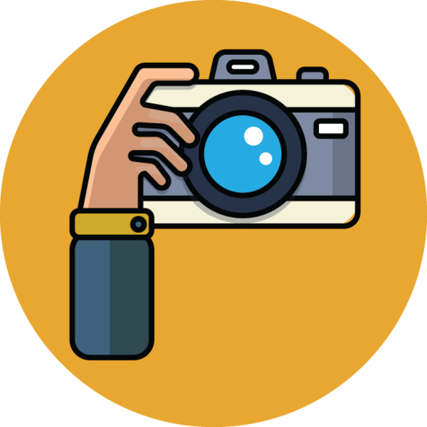 Camera cartoon png. Illustration of hand
