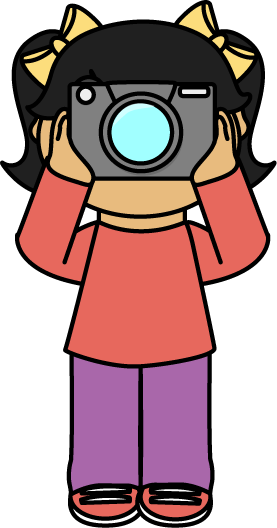 Camera clipart kawaii. Girl for free download