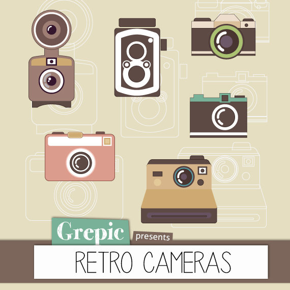 Camera clipart retro camera. Digital pack c flickr