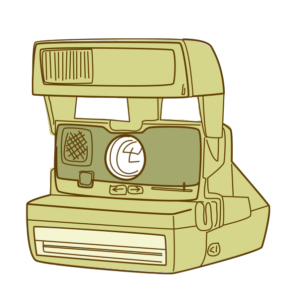 Camera clipart retro camera. Clip art print printables