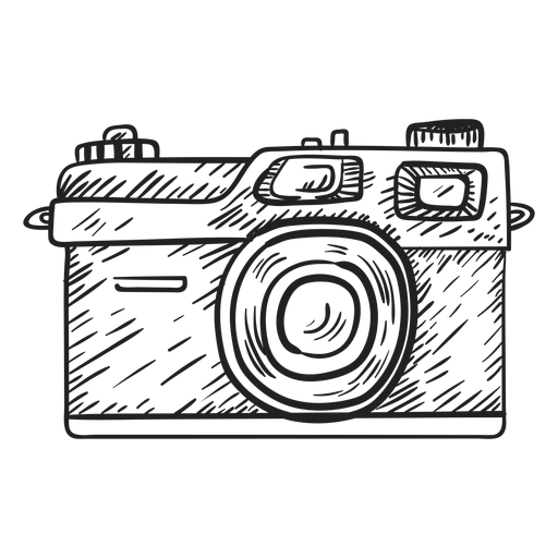 Checkered drawing camera. Photography transprent png free