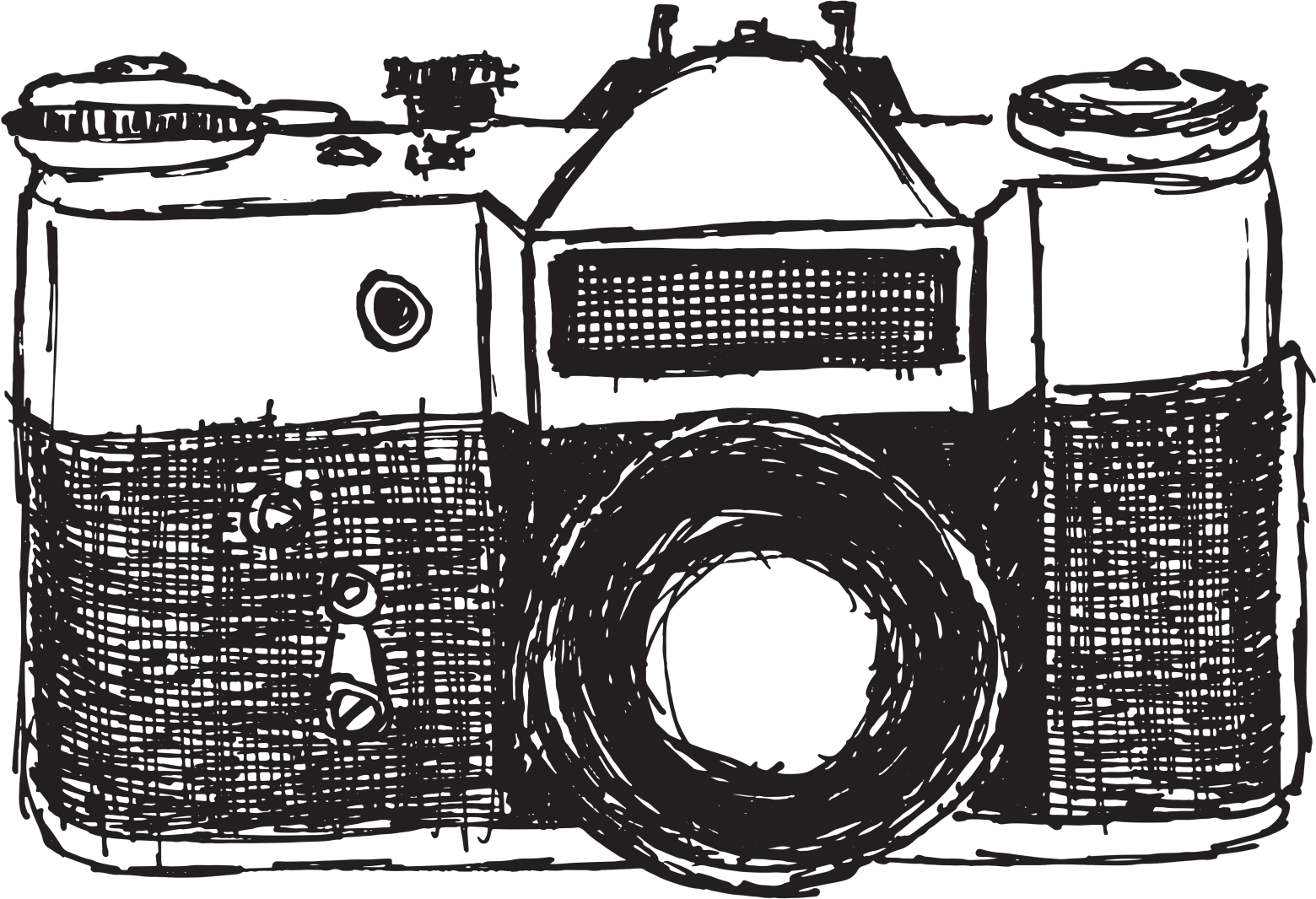 Palimpsest drawing. Collection of camera