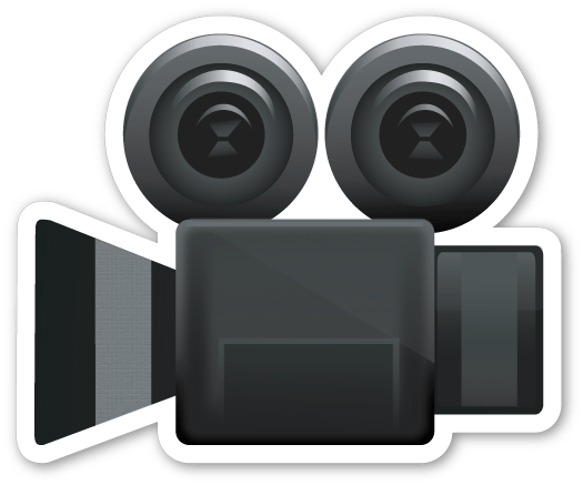 Video camera emoji png