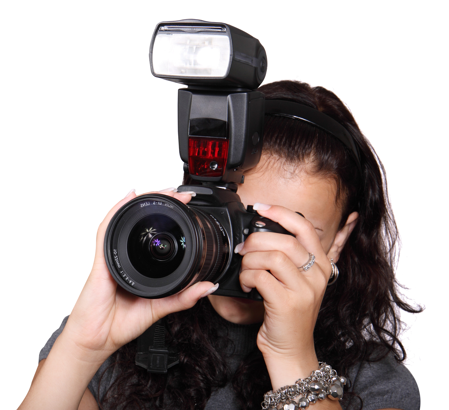 Camera photography png. Woman taking photo with