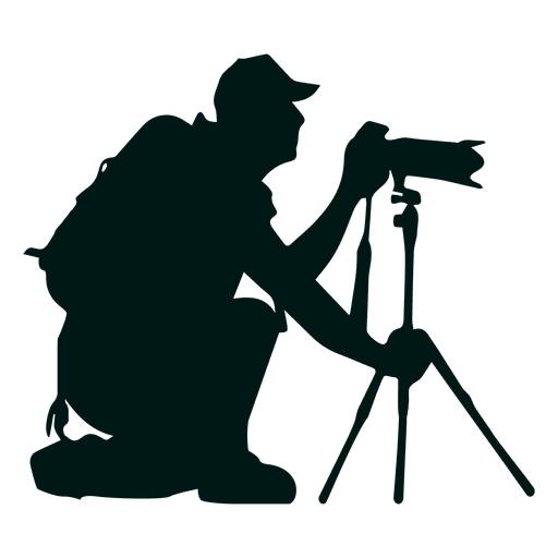 Photographer with stand transparent. Camera silhouette png jpg transparent stock