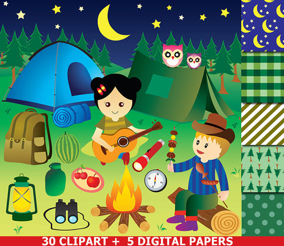 Camp clipart camp director. Camping party glamping clip