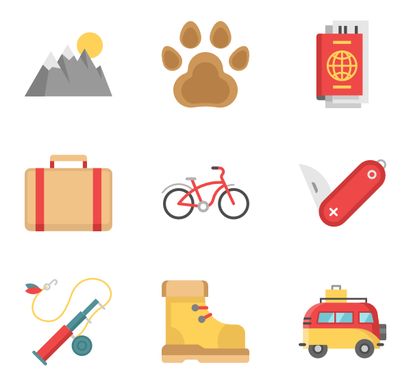 Camp vector. Icons free camping elements