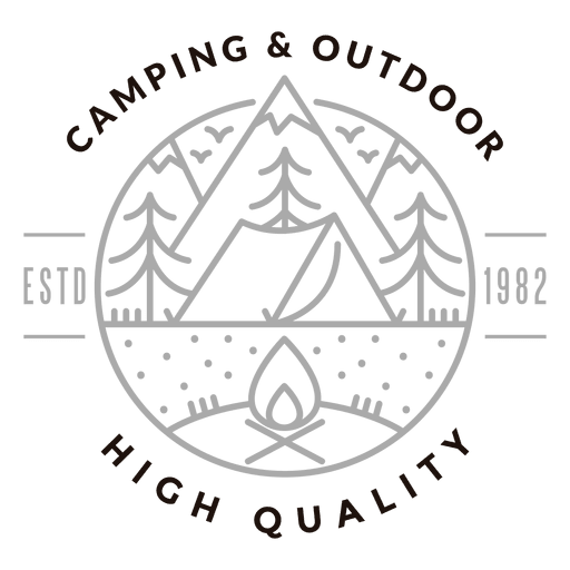 Camping outdoor logo transparent. Camp vector outdoors image black and white