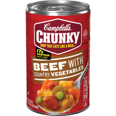 Campbell soup png. Beef with country vegetables