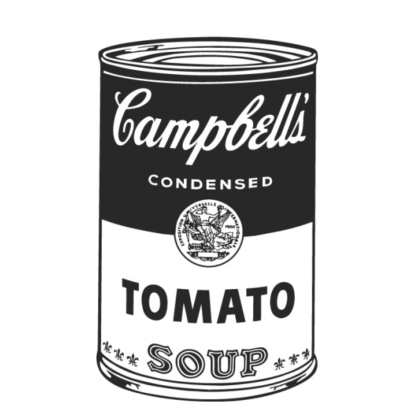 Campbell soup png. Modern and retro vinyl