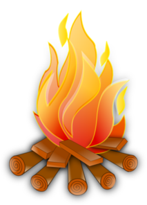 Animated . Campfire clipart image royalty free stock