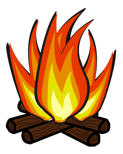 Fire clip camping. Download campfire free png