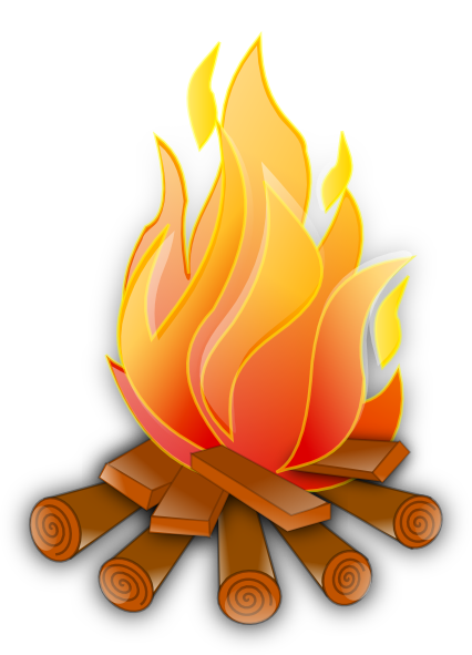 Fire clip camping. Campfire transparent background free