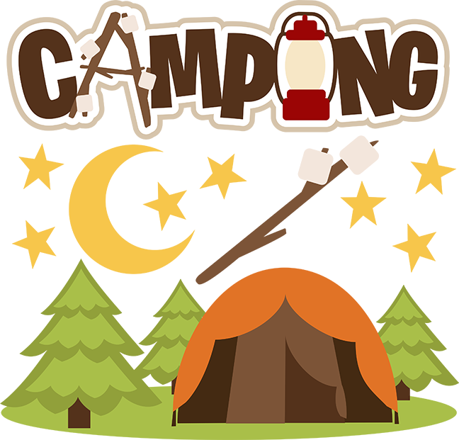 Camping clipart. Svg file for scrapbooking