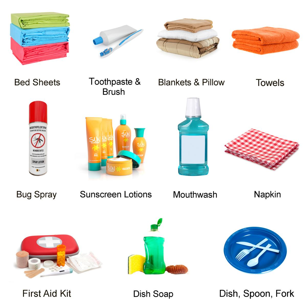 Camping clipart camping essential. A be prepared checklist