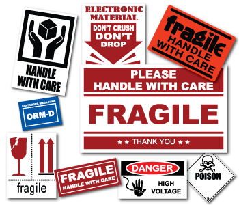 Can labels png. Fragile stickers warning caution