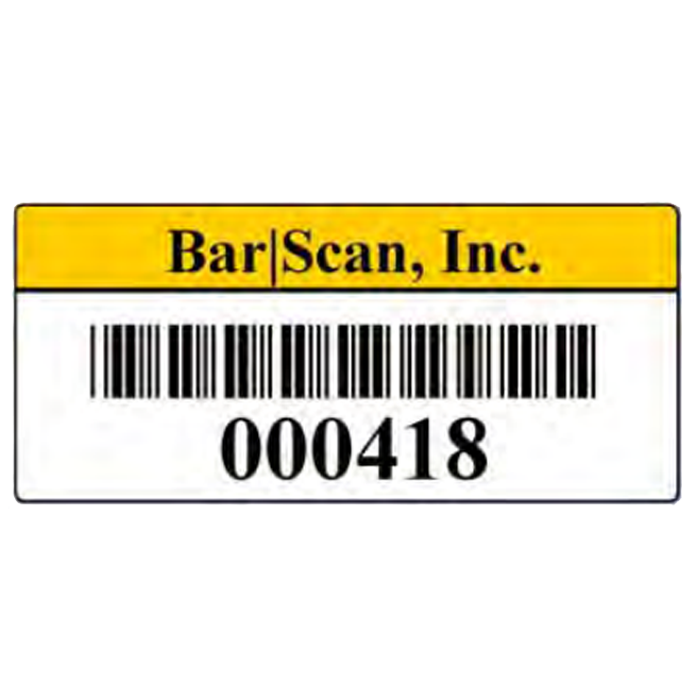 Can labels png. Barcode asset tags bar