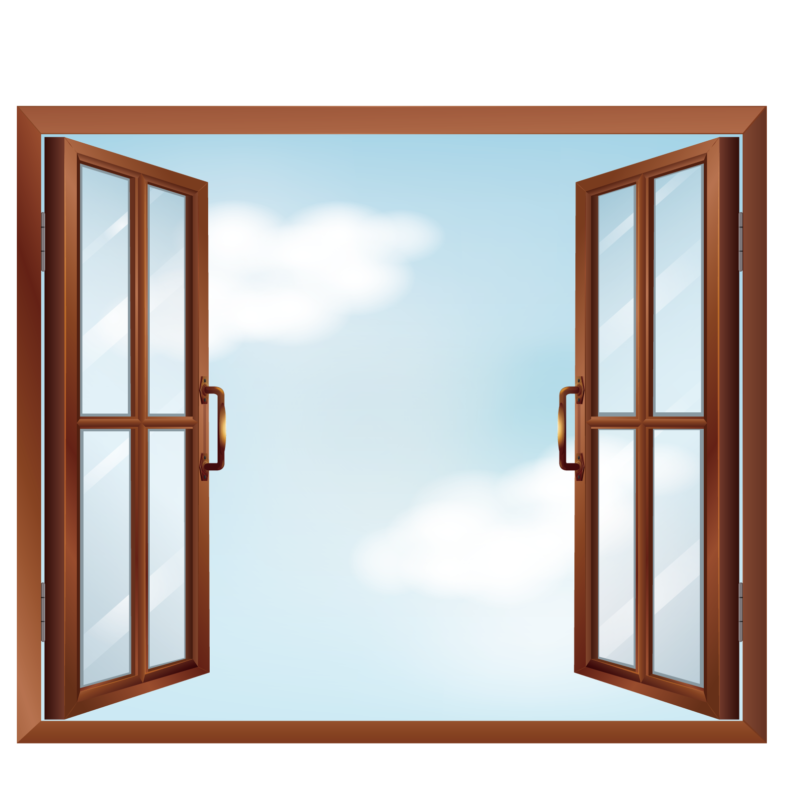 Frame clip window. Art vector open windows
