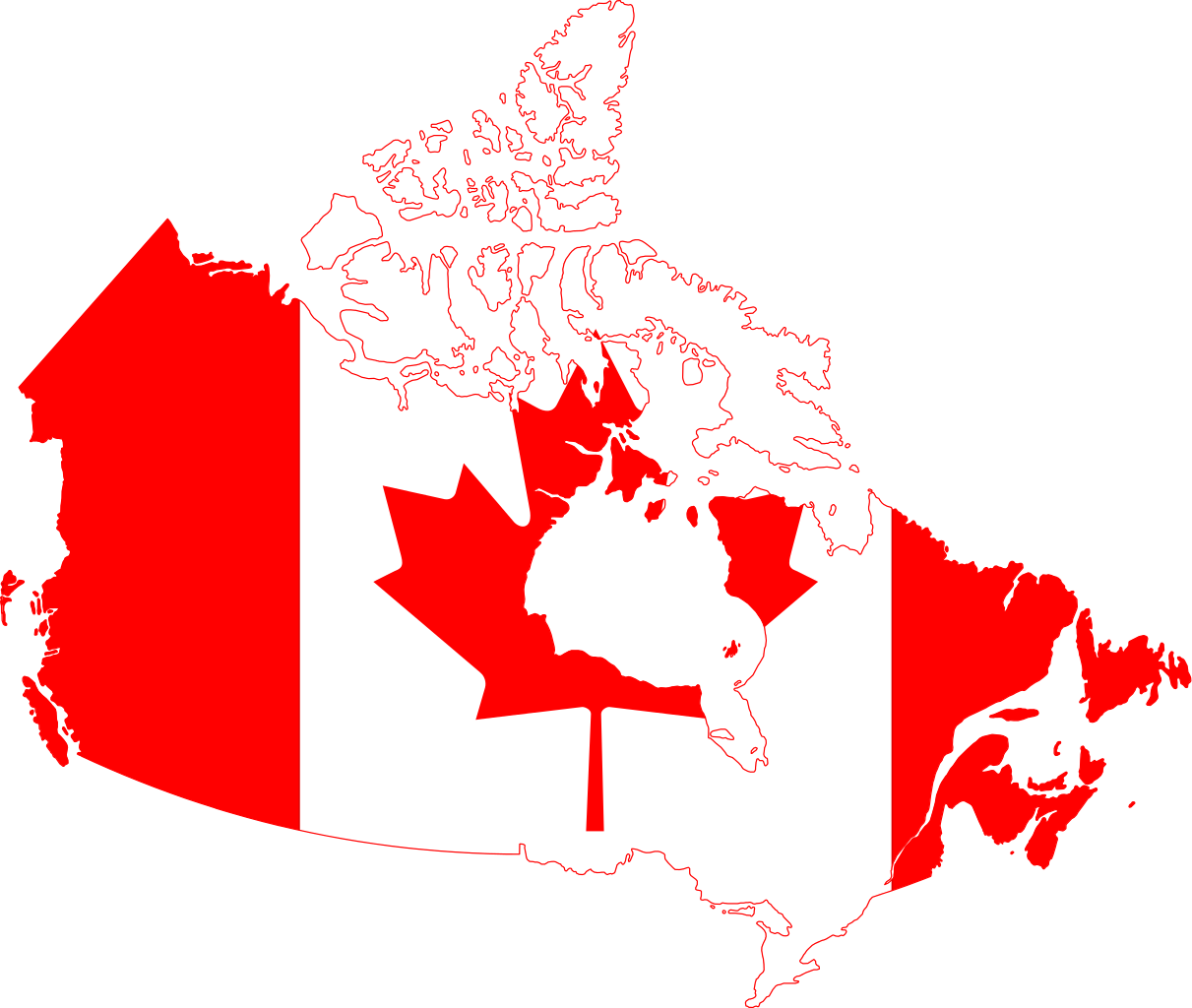 Canadian flag png. File canada map svg