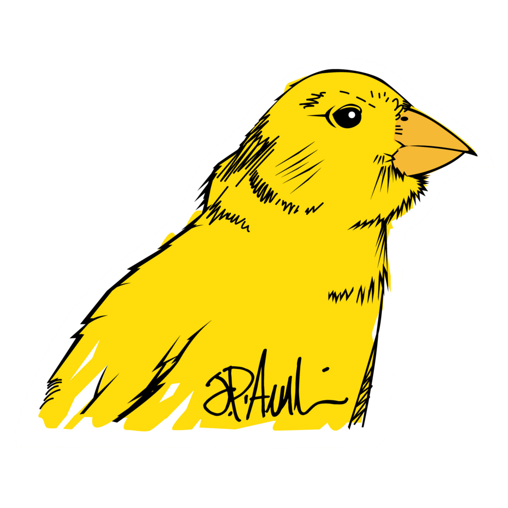 Canary drawing. Jp sticker packs inspiration