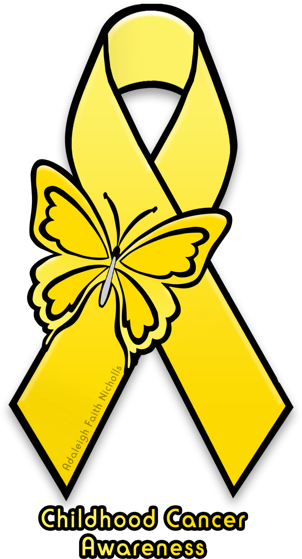 Cancer clipart childhood cancer. Adaleighfaith awareness ribbon mental