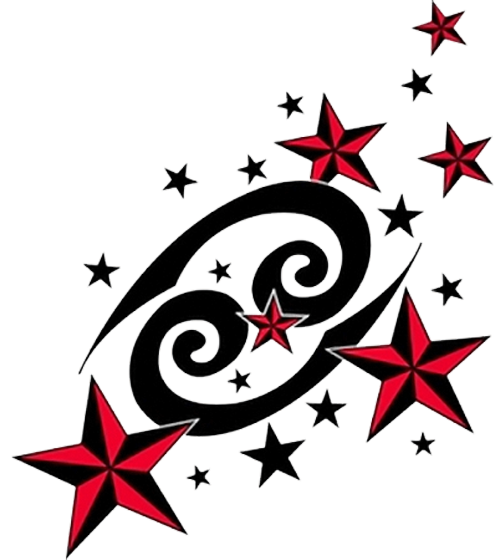 Cancer vector horoscope. Zodiac sign info meanings