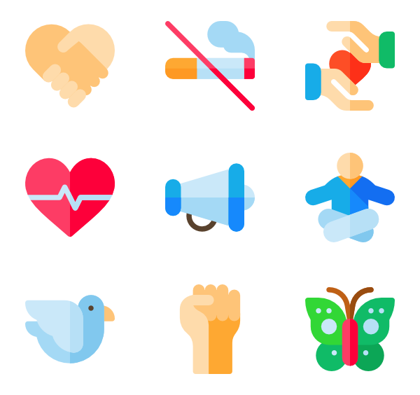 Cancer vector oncology. Icons free world awareness