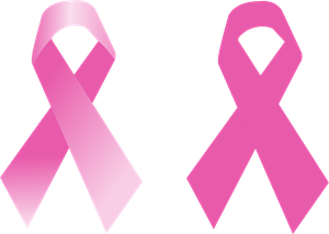 File vector ribbon. Breast cancer logo eps