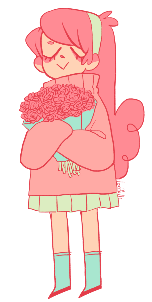 Pink drawing person