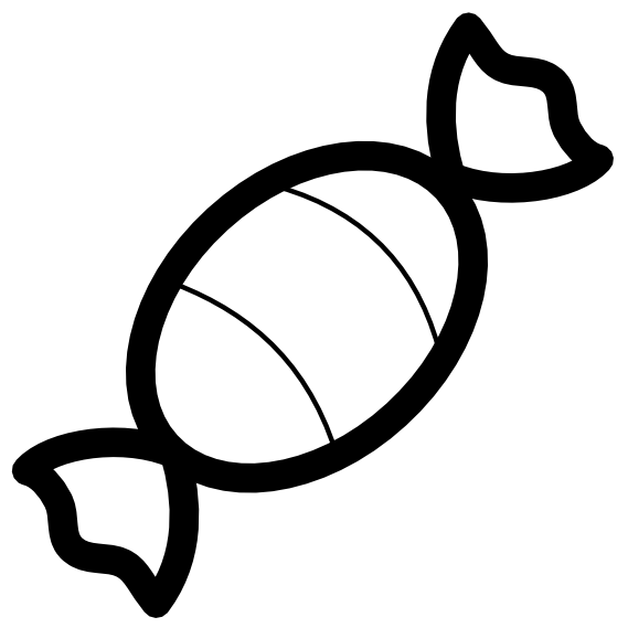 Candies drawing black and white. Candy clipart