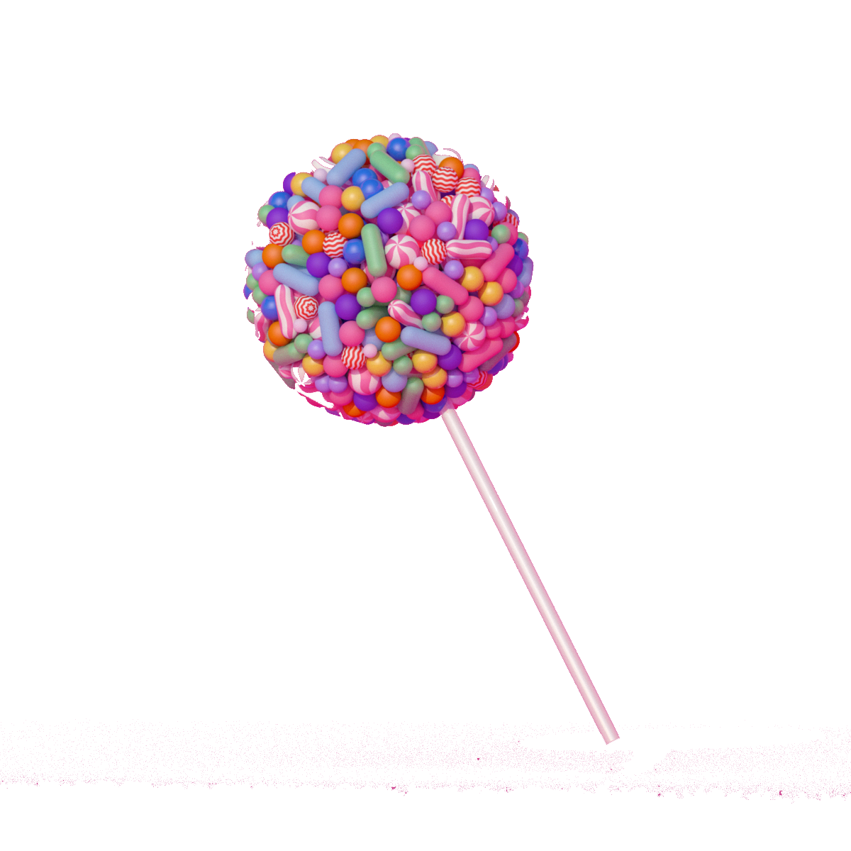 Drawing candy creative. Lollipop creativity download stereoscopic