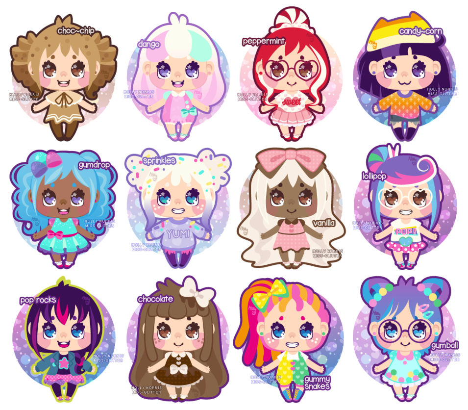 Candies drawing cute. Candy girl adoptables by
