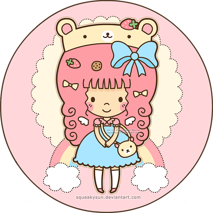 Candies drawing kawaii. Candy girl by squeakytoybox