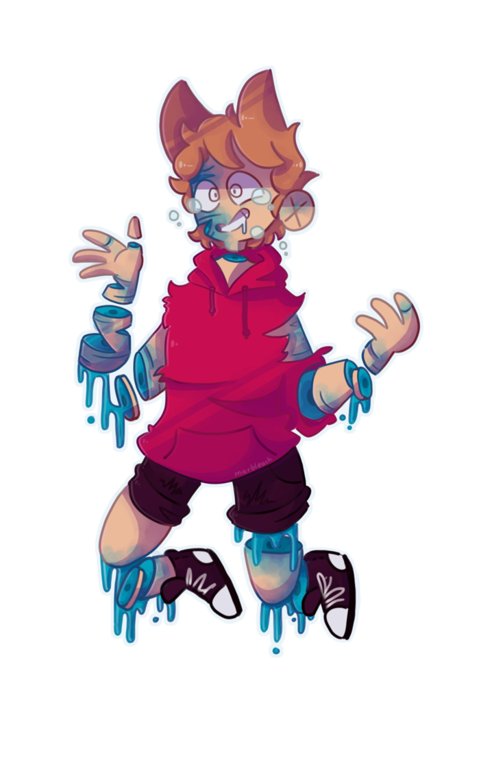 Candies drawing person. Candy gore by marbleach