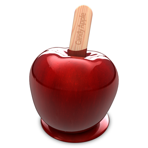 Candies drawing photorealism. Candy apple app icon