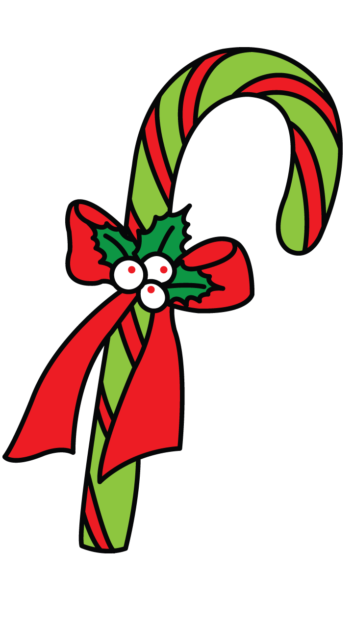 How to candy christmas. Cane drawing draw clip library download