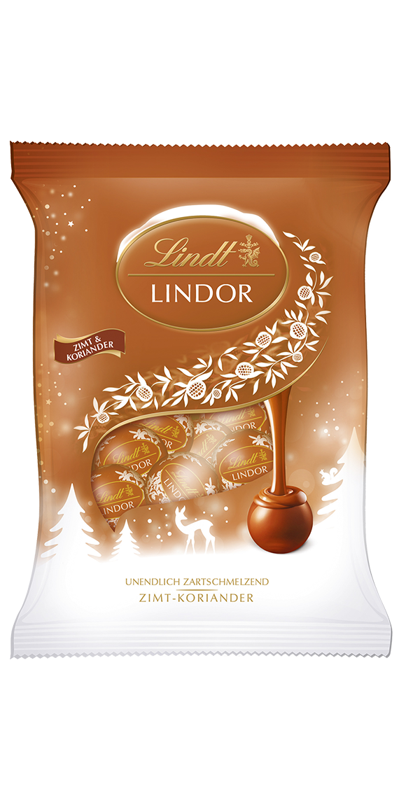 Candies drawing toffee. Lindor mini kugeln zimt