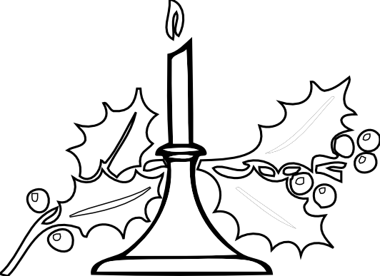 Candlestick drawing detailed. Candle clipart black and