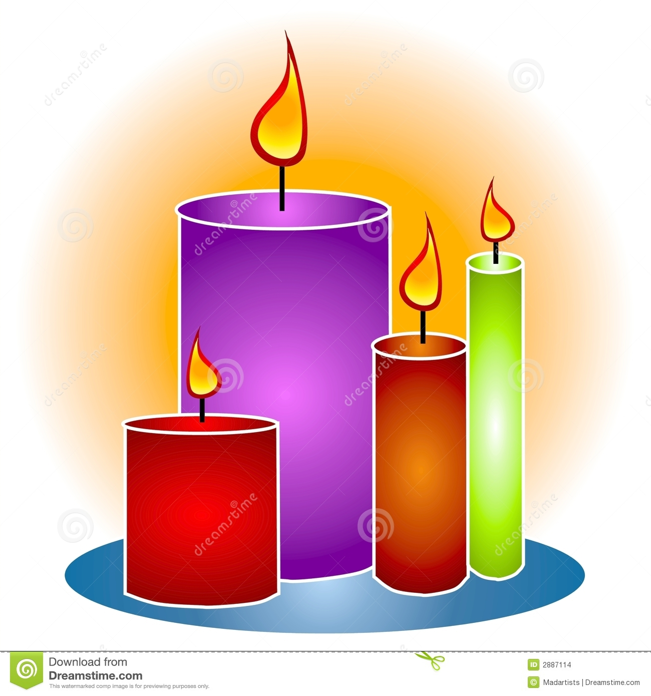 Lit decorative stock illustration. Candles clipart picture free library