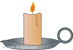 Candle clipart old fashioned. Pencil and in color
