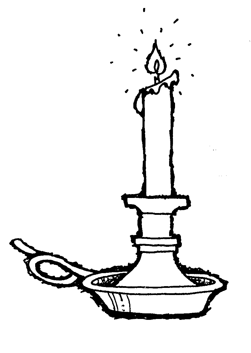 Candle clipart old fashioned. Deepam black and white