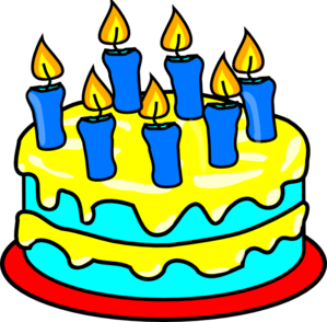 happy birthday cake with 5 candles png